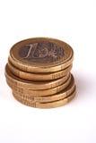A pile of euro coins Royalty Free Stock Photos