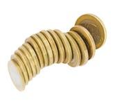 Pile of euro coins Stock Photos