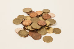 Pile of Euro coins Stock Image