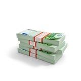 Pile of Euro. Isolated on white background Stock Photos