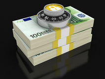 Pile of Euro Protection (clipping path included) Stock Photo
