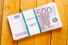Pile of euros Royalty Free Stock Photography