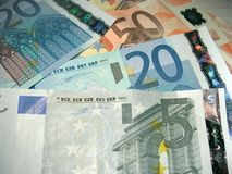 Pile of Euros Stock Image