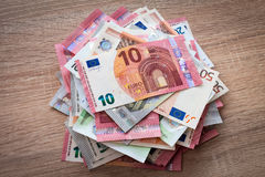 Pile of Euros Stock Photography