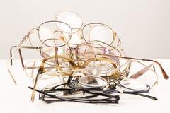 Pile of eye glasses Stock Photo