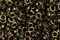 Pile of eyelet. Pile of industry brass eyelet stock images