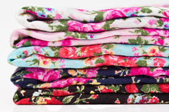 Pile of fabric Stock Image