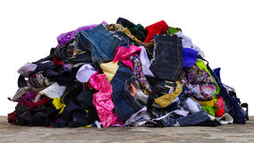 Pile of fabric pieces Stock Photo