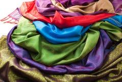 Pile of fabrics Royalty Free Stock Image