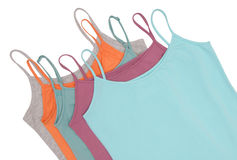 Pile of female tee shirts royalty free stock photos