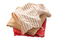 Pile of female underwear on the white ,clipping path. Royalty Free Stock Photo