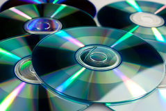 Pile of few compact discs cd Stock Image