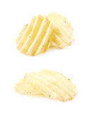 Pile of few potato chips Stock Images