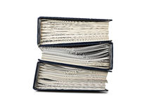 Pile of file binder with documents Royalty Free Stock Images