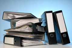 A pile of file folders Stock Image
