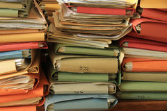 Pile of files Royalty Free Stock Photos