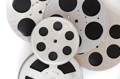 Pile of film reels close up Royalty Free Stock Photo