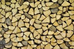 Pile of fire wood Stock Images