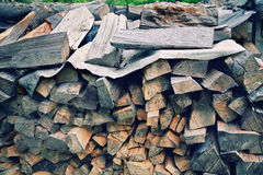 Pile of firewood. A big pile of fore wood for the winter royalty free stock photography