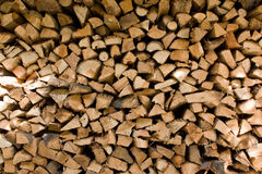 Pile of Firewood Royalty Free Stock Images