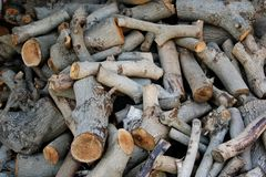 Pile of firewood. Suitable for background Royalty Free Stock Photography