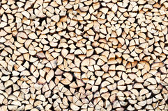Pile of firewood as background Stock Photography