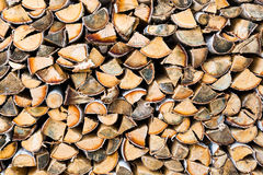 Pile of firewood as background Royalty Free Stock Photography