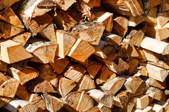 Pile of firewood background Royalty Free Stock Photo