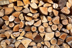 Pile firewood Royalty Free Stock Images