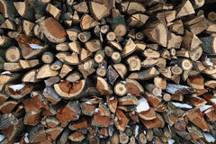 The pile of firewood Royalty Free Stock Images
