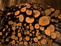 Pile of Firewood royalty free stock image