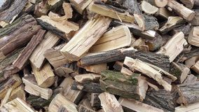 A pile of firewood.Firewood. Royalty Free Stock Photography