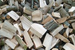 Pile of firewood Stock Photography