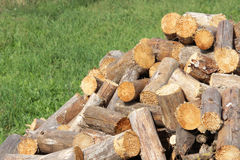 Pile of firewood Stock Images