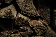 Pile of firewood logs Royalty Free Stock Photos