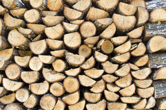 Pile of firewood logs Stock Images