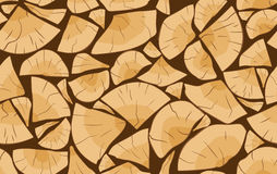 Pile of firewood pattern. Pile of firewood logs seamless pattern Stock Images