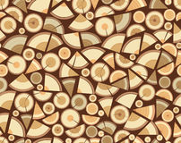 Pile of firewood seamless pattern. Royalty Free Stock Image