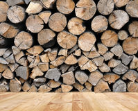 The pile of firewood Stock Images