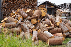 Pile of firewood Royalty Free Stock Photos