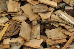 Pile of firewood stacked Stock Photos