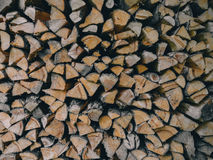 Pile of Firewoods Stock Photo