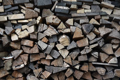 Pile of firewoods Stock Photography