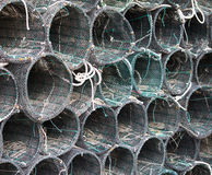 Pile of fish net. Close up of a pile of fish net Stock Photography