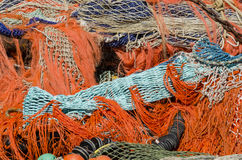 A Pile of Fishing Nets Royalty Free Stock Photography