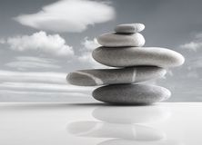 Pile of five stones royalty free stock photo
