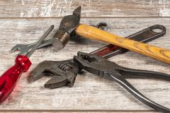 Pile of Five Tools royalty free stock photos