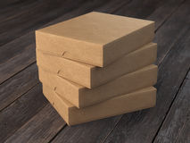 Pile of flat cardboard boxes Stock Images