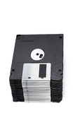A pile of 3.5 floppy discs isolated on a white. Background. See my other works in portfolio Royalty Free Stock Photo