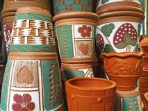 Pile of Flowerpots Royalty Free Stock Photography